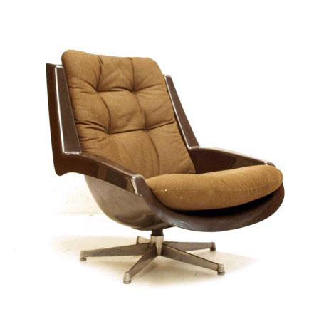 str ssle sessel von paul tuttle braun m bel z rich vintagem bel. Black Bedroom Furniture Sets. Home Design Ideas