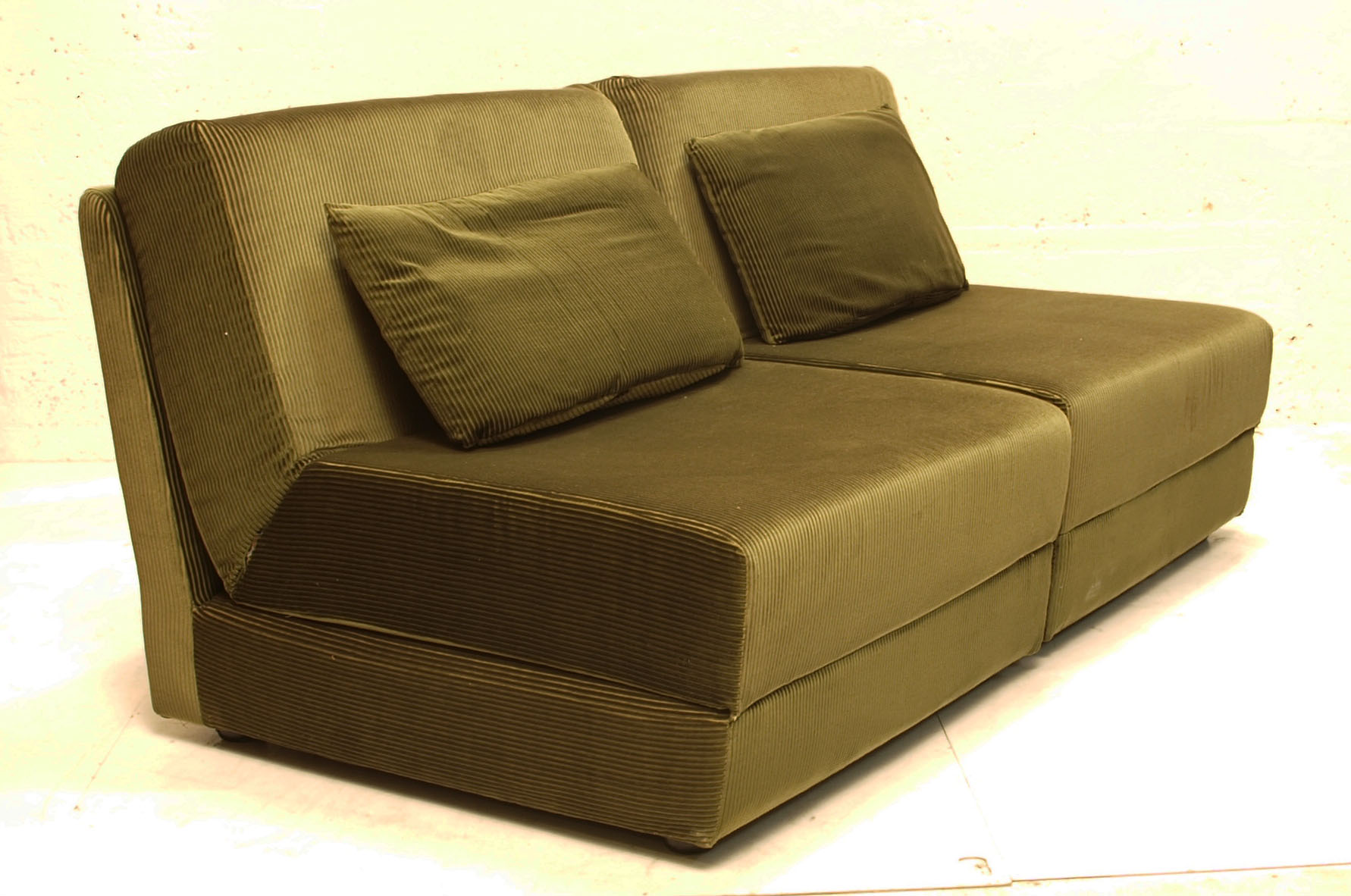 2er element sofa manchester olive klappbar m bel z rich vintagem bel. Black Bedroom Furniture Sets. Home Design Ideas