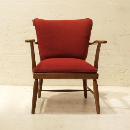 Loungesessel mit einzelnen polstern nussbaum m bel for Sessel 40er design