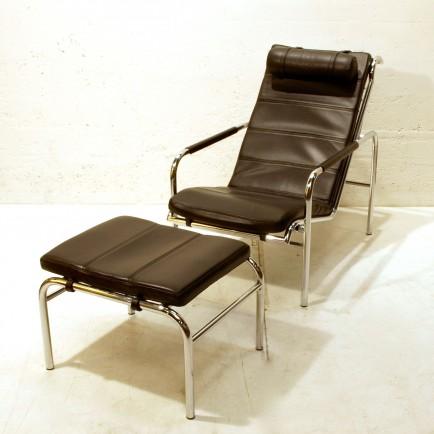 relax liege genni inkl ottoman neuwertig m bel z rich vintagem bel. Black Bedroom Furniture Sets. Home Design Ideas