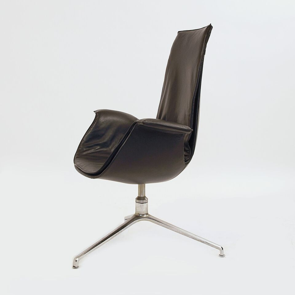 fk chair von walter knoll mit neuem lederbezug m bel z rich vintagem bel. Black Bedroom Furniture Sets. Home Design Ideas