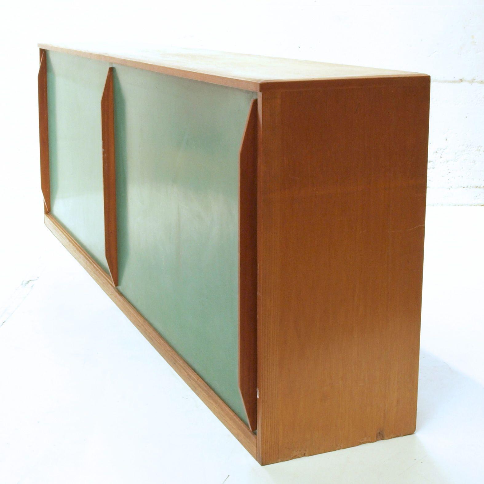 langes schiebeschrank sideboard jetzt in blau frisch restauriert m bel z rich vintagem bel. Black Bedroom Furniture Sets. Home Design Ideas