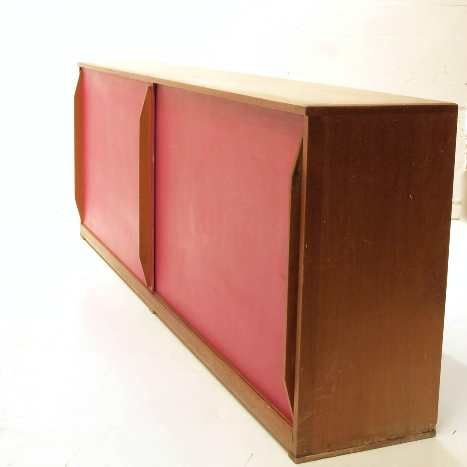 langes schiebeschrank sideboard jetzt in blau frisch lackiert m bel z rich vintagem bel. Black Bedroom Furniture Sets. Home Design Ideas