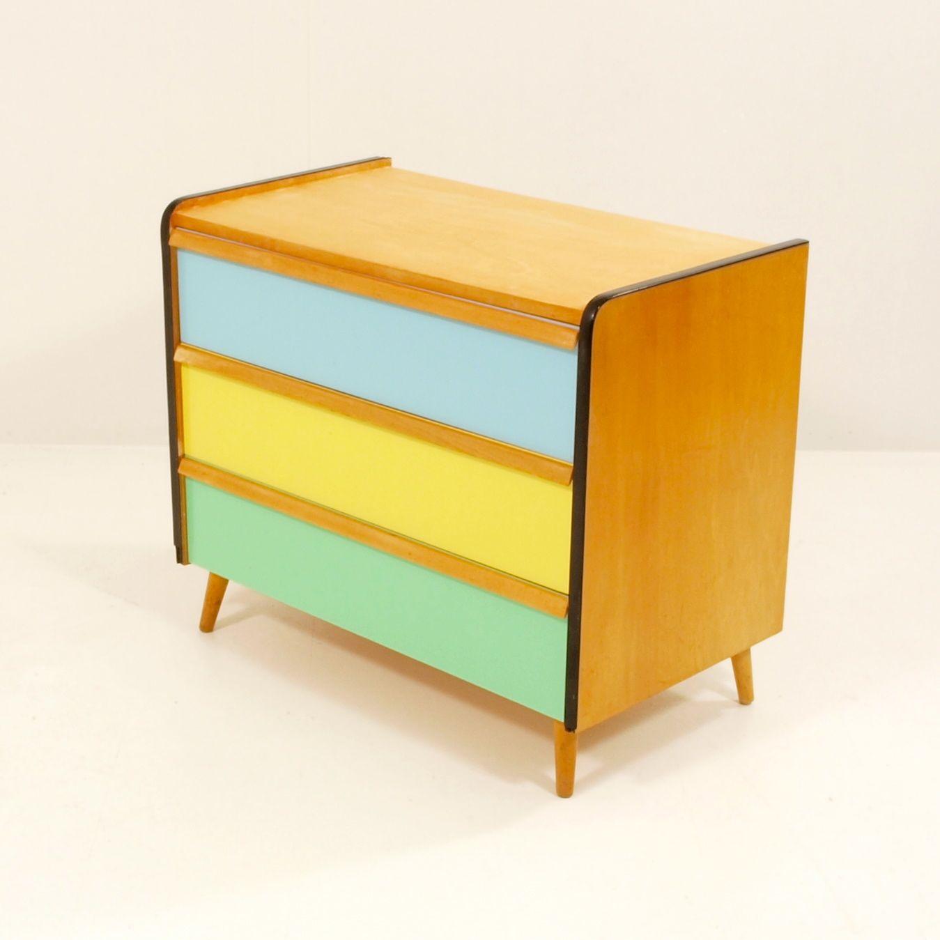 farbige komode komplett restauriert | möbel zürich | vintagemöbel