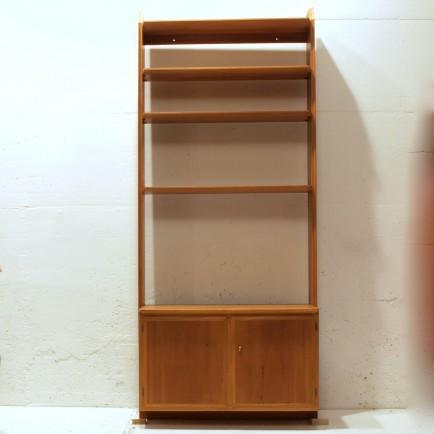 helles teakregal f r die wandmontage m bel z rich vintagem bel. Black Bedroom Furniture Sets. Home Design Ideas