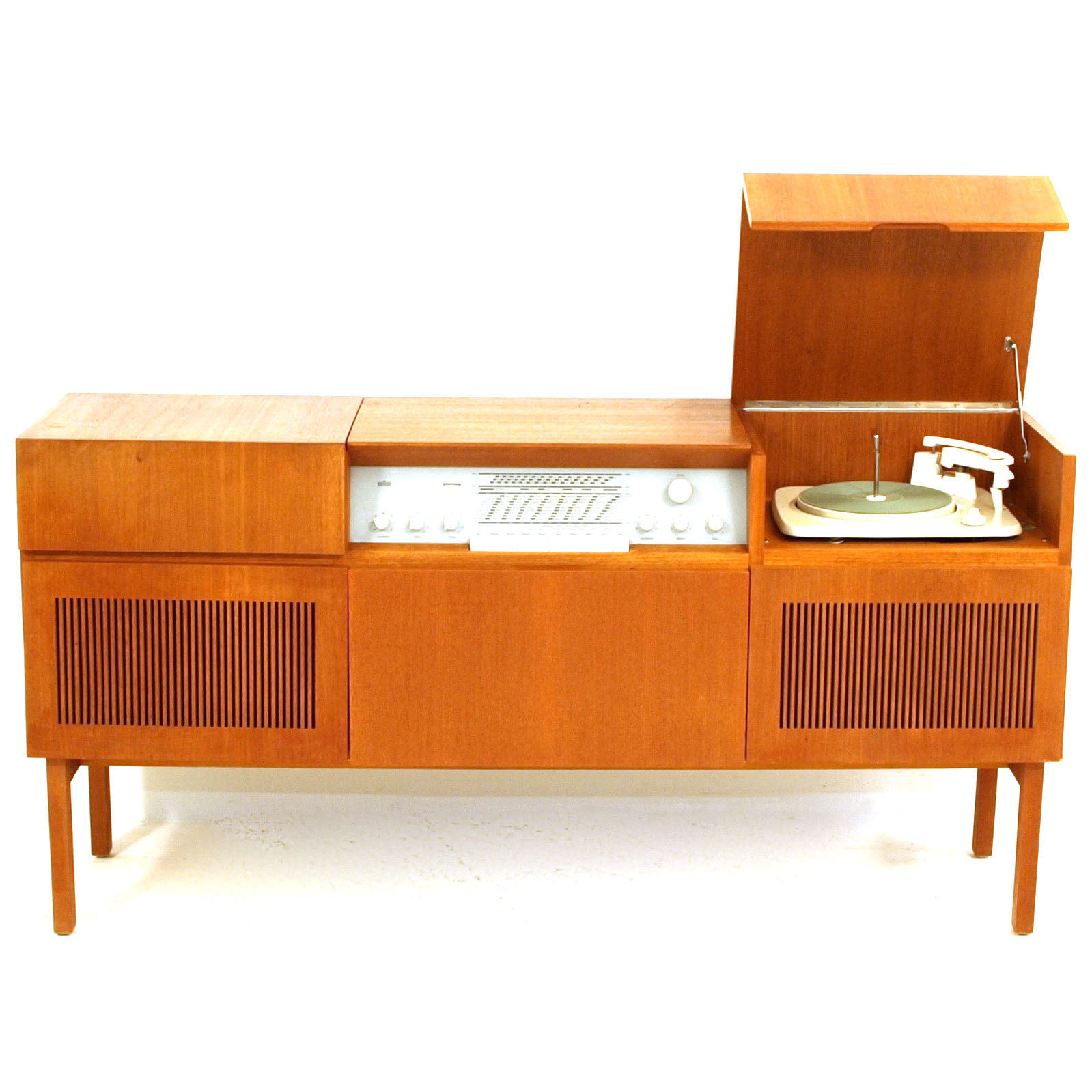 stereo phono m bel mit ger ten von braun m bel z rich vintagem bel. Black Bedroom Furniture Sets. Home Design Ideas