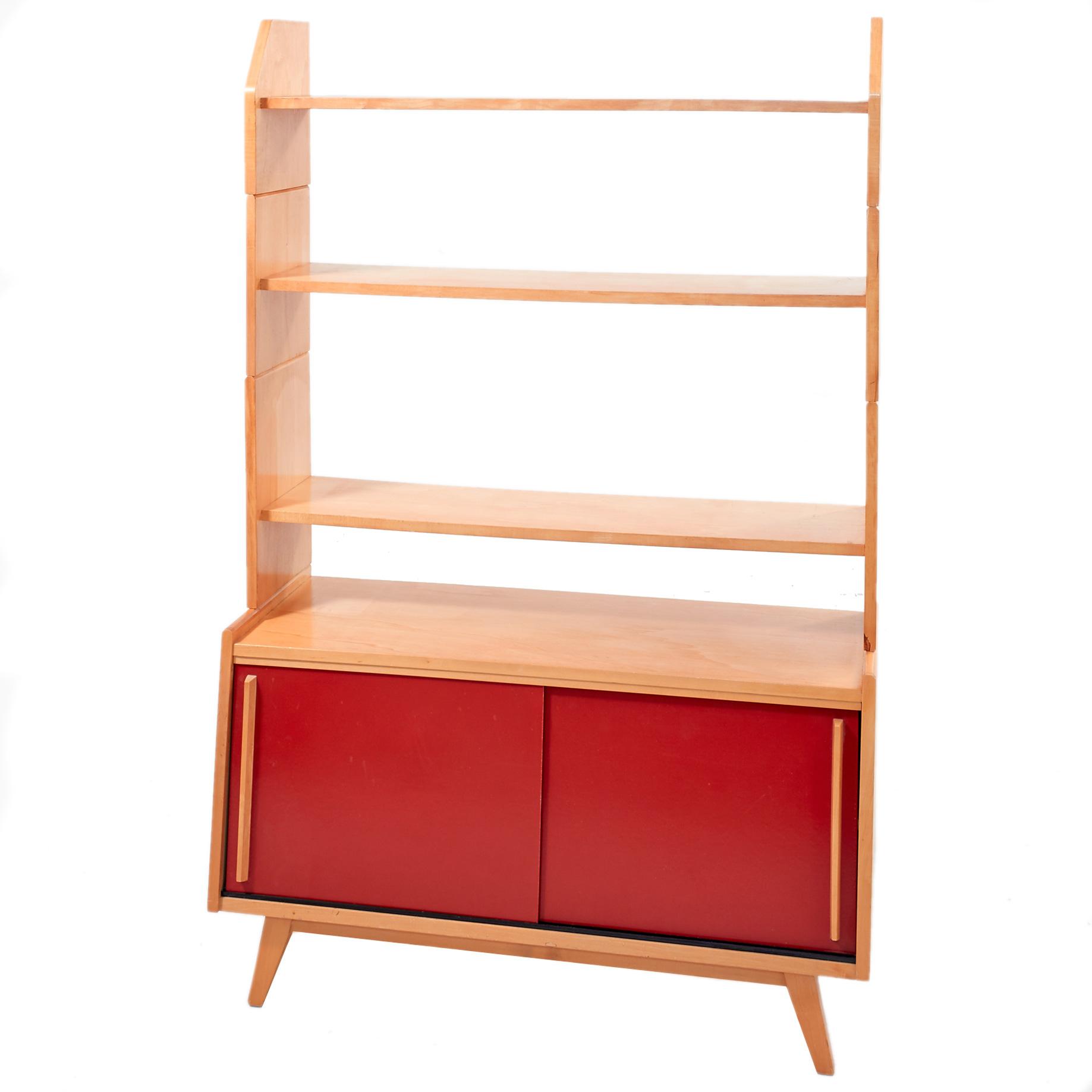 schiebeschrank mit aufsetzbarem regal m bel z rich vintagem bel. Black Bedroom Furniture Sets. Home Design Ideas
