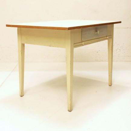 Küchentisch mit Ablage und Schublade, Lino weiss | Möbel ...