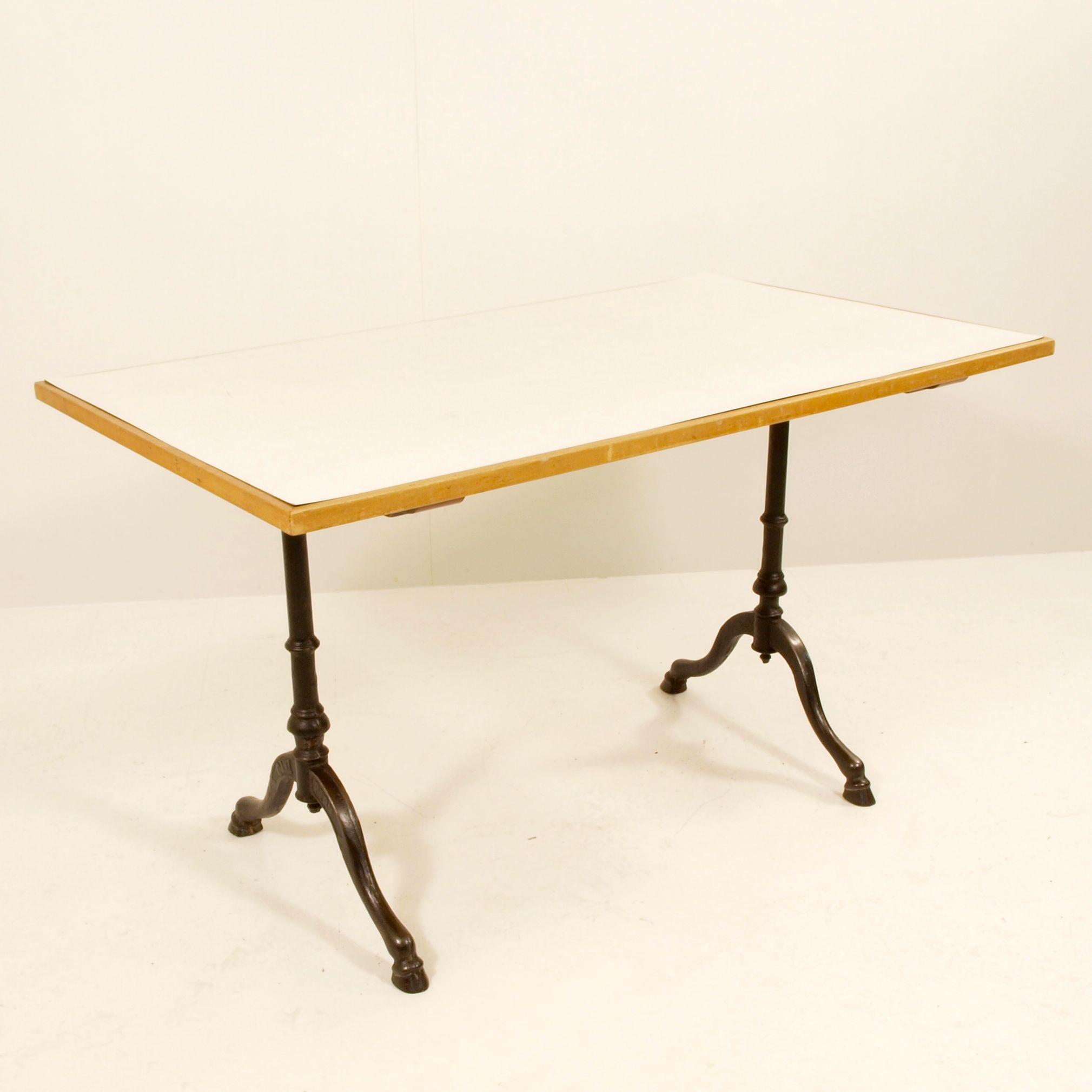 kunstharz tischplatte weiss grau meliert m bel z rich vintagem bel. Black Bedroom Furniture Sets. Home Design Ideas