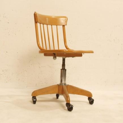 Bürostuhl Aus Holz bürostuhl auf rollen massivholz buch möbel zürich vintagemöbel