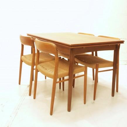 niels möller, teakstühle, 4er set stühle,