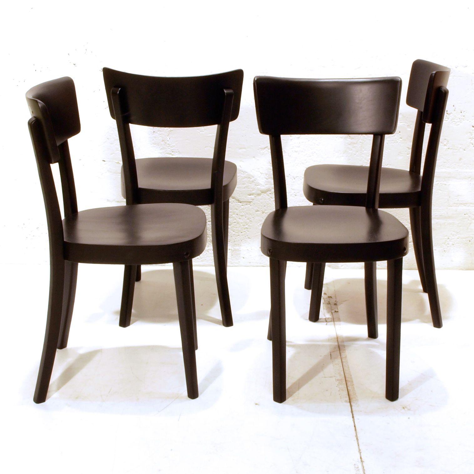Horgen glarus st hle schwarz lackiert verschiedene for Designklassiker stuhl holz