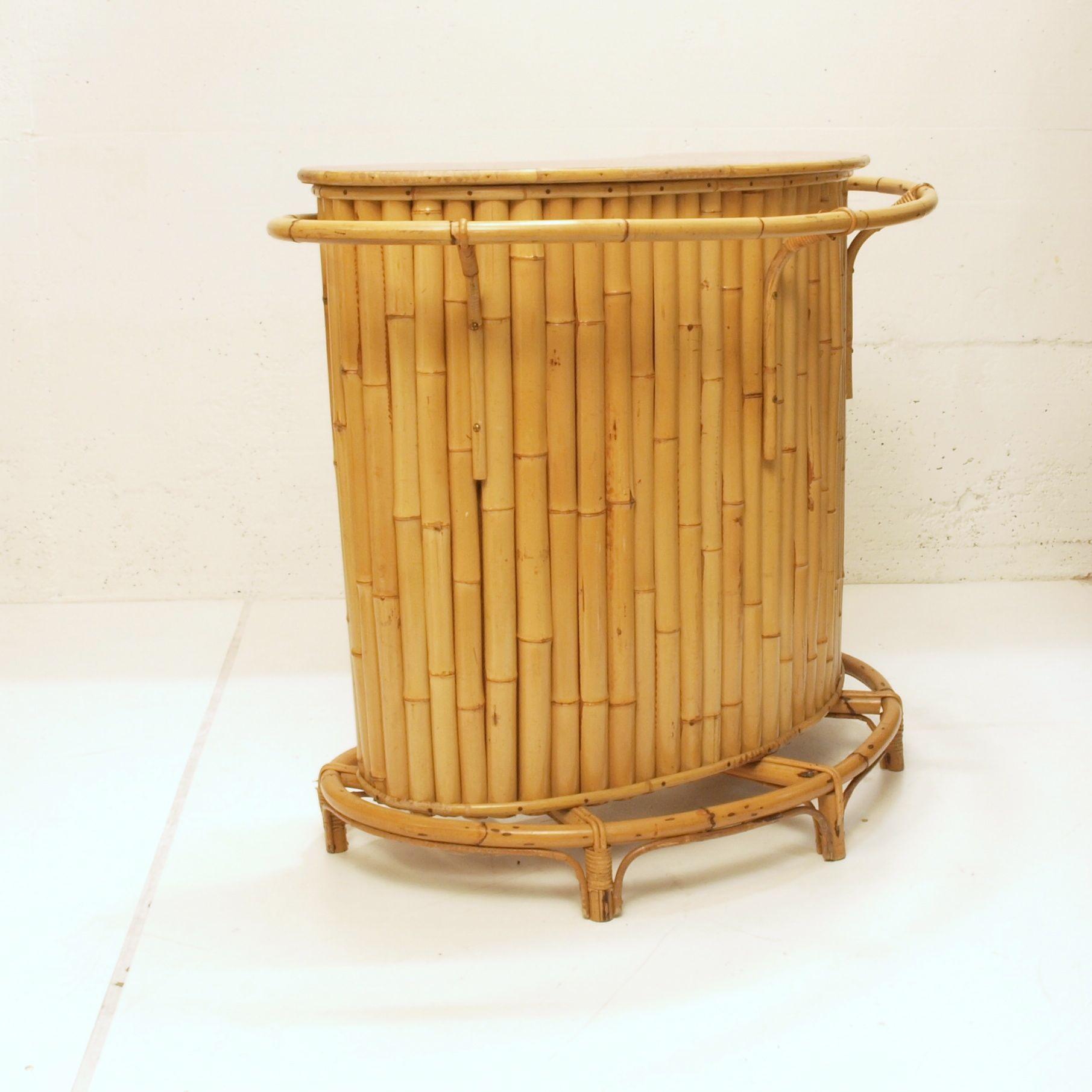bambus bar abgerundet m bel z rich vintagem bel. Black Bedroom Furniture Sets. Home Design Ideas