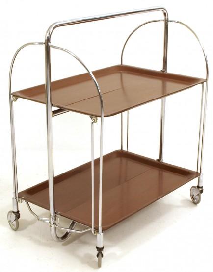 servierwagen auf rollen klappbar m bel z rich vintagem bel. Black Bedroom Furniture Sets. Home Design Ideas