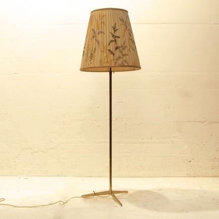 stehlampe mit stoffschirm pflanzenprint m bel z rich vintagem bel. Black Bedroom Furniture Sets. Home Design Ideas