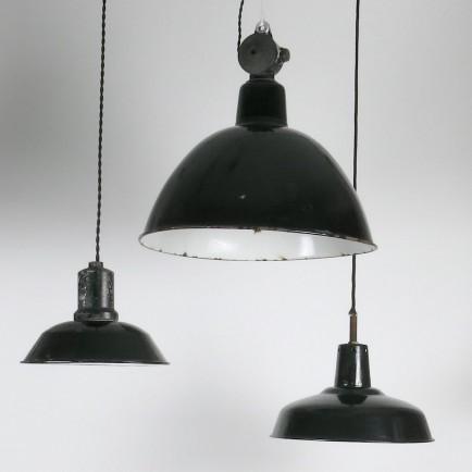 emaillampen, küchenlampen,secondhand,vintage