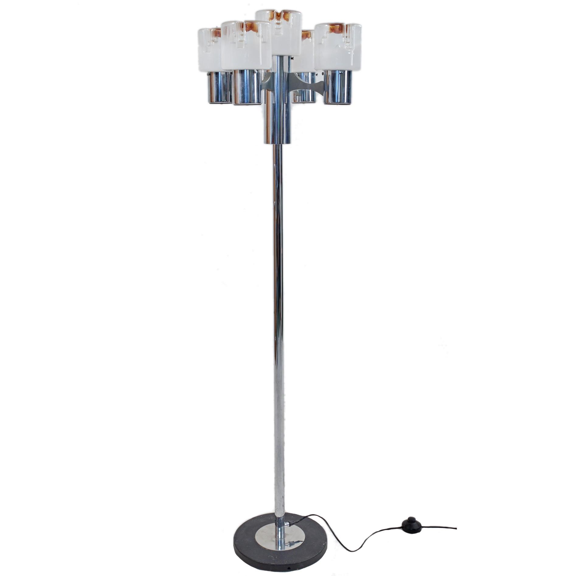 Italienische stehlampe mit f nf leuchten m bel z rich for Italienische leuchten