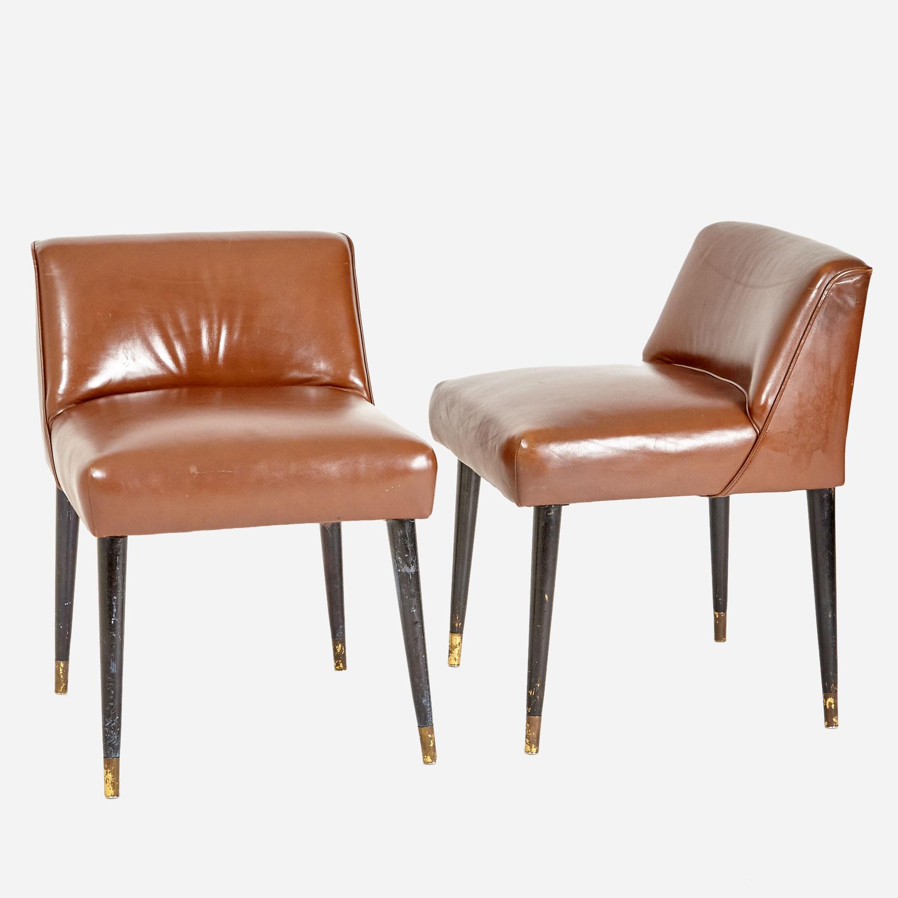 clubsessel in braunem leder m bel z rich vintagem bel. Black Bedroom Furniture Sets. Home Design Ideas