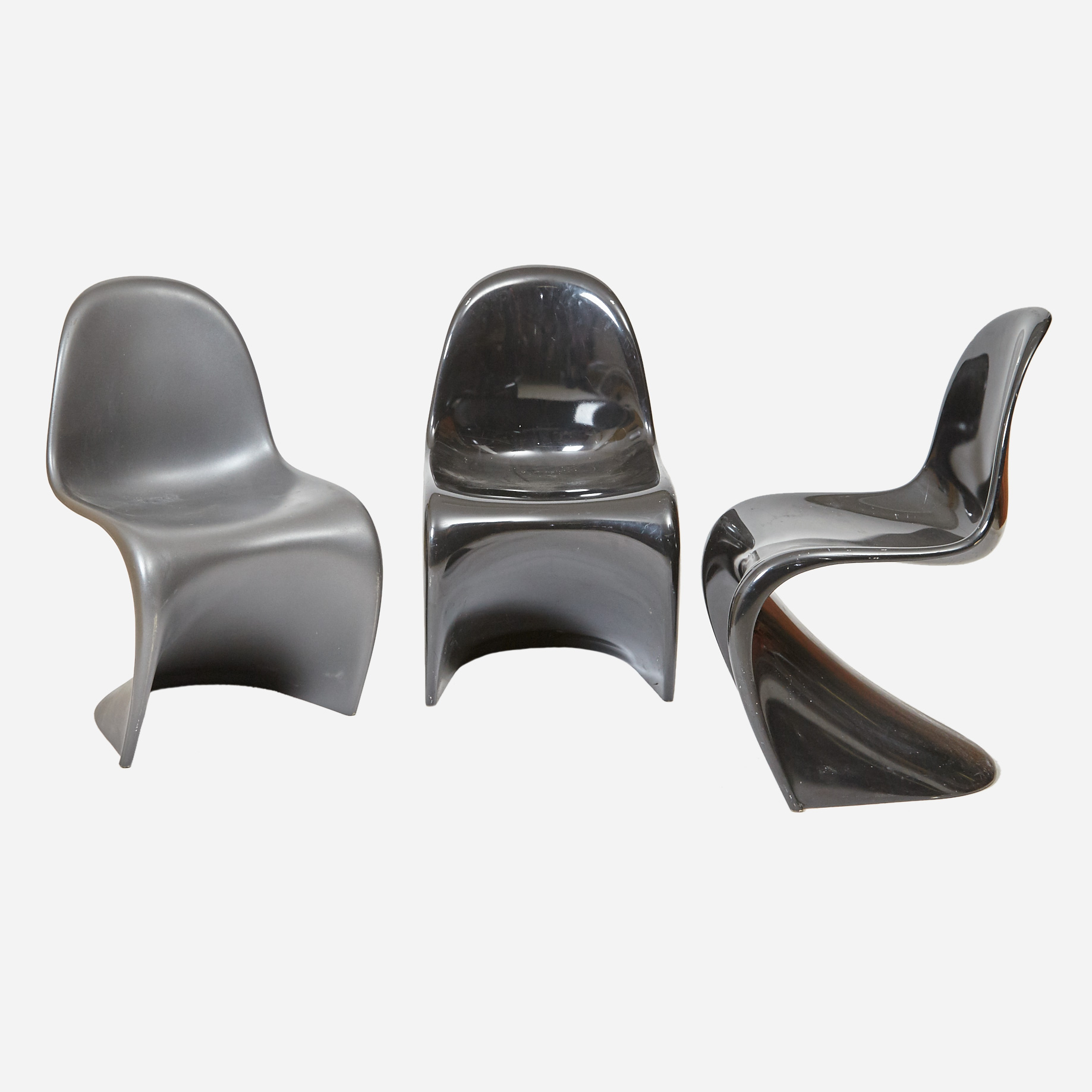 panton chair schwarz m bel z rich vintagem bel. Black Bedroom Furniture Sets. Home Design Ideas