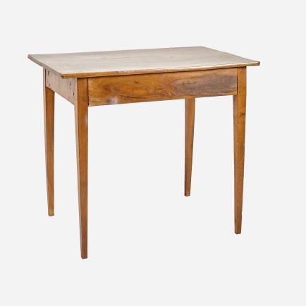k chentisch aus nussabumholz mit schublade m bel z rich vintagem bel. Black Bedroom Furniture Sets. Home Design Ideas