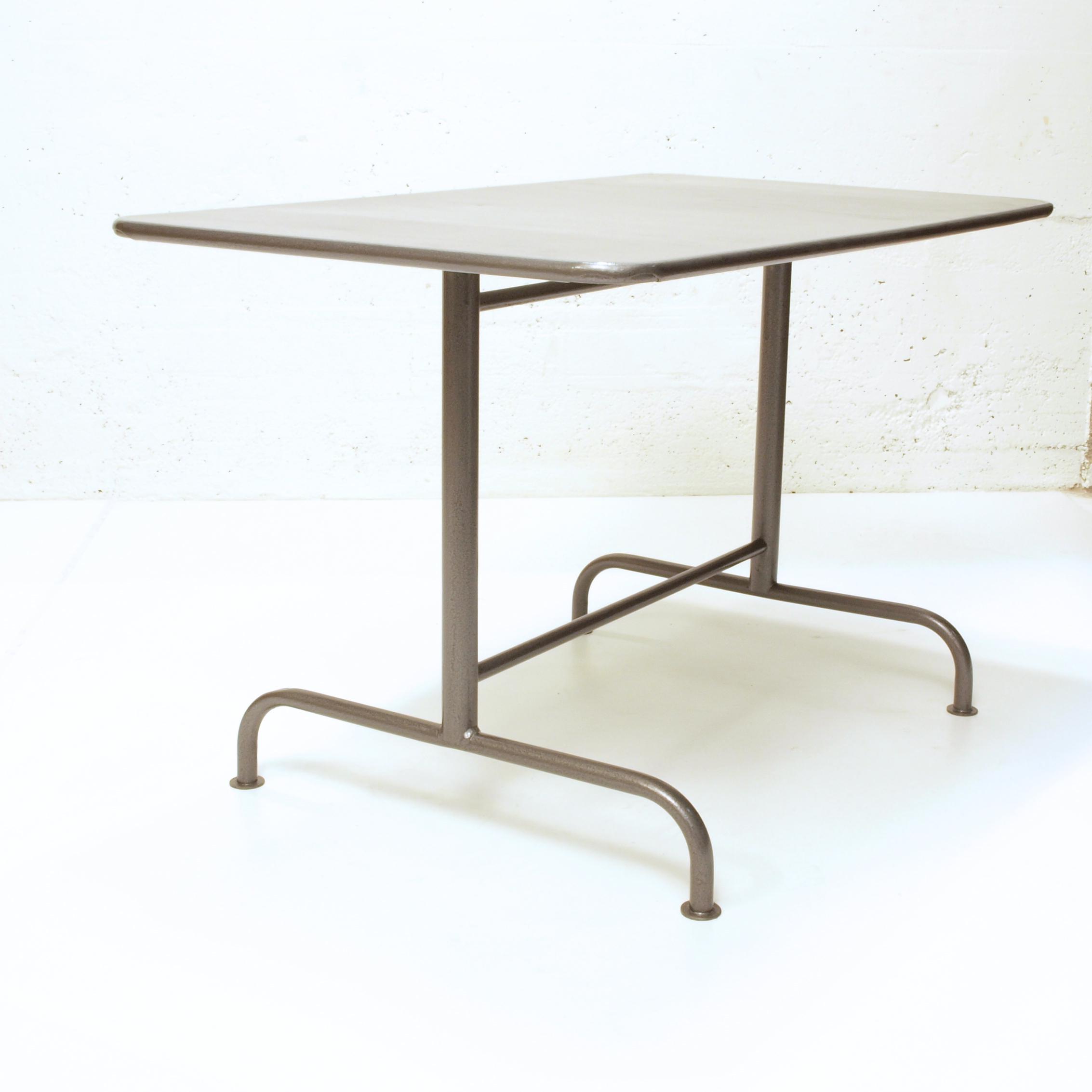 Bigla Gartentisch komplett restauriert, klappbar, Hammerite Style