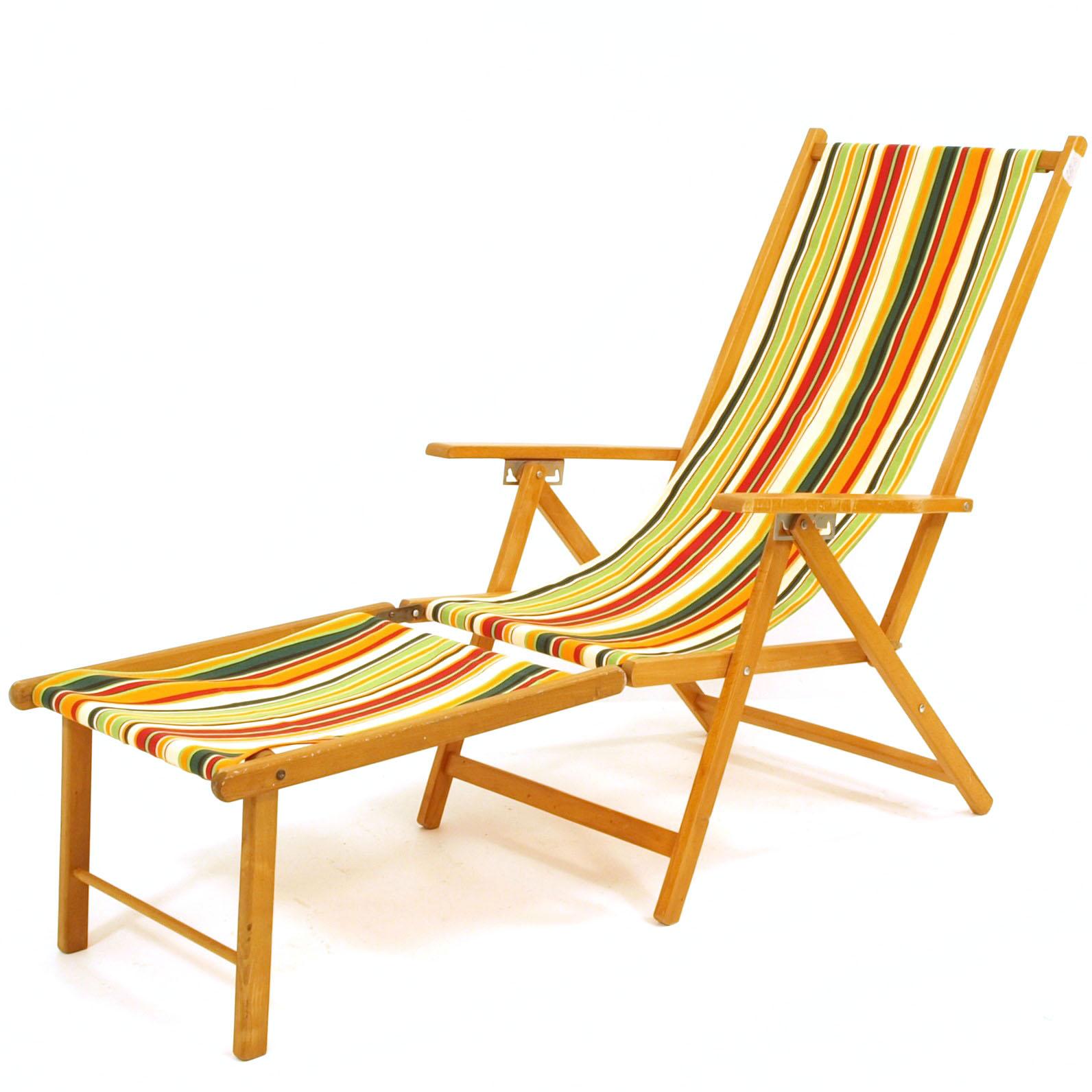 Liegestuhl mit neuem Stoff  Möbel Zürich  Vintagemöbel