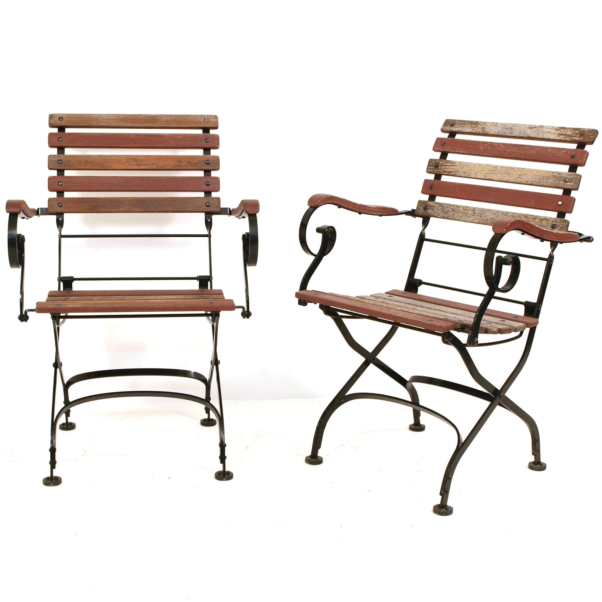 Antike Gartenstühle mit Armlehnen | Möbel Zürich | Vintagemöbel