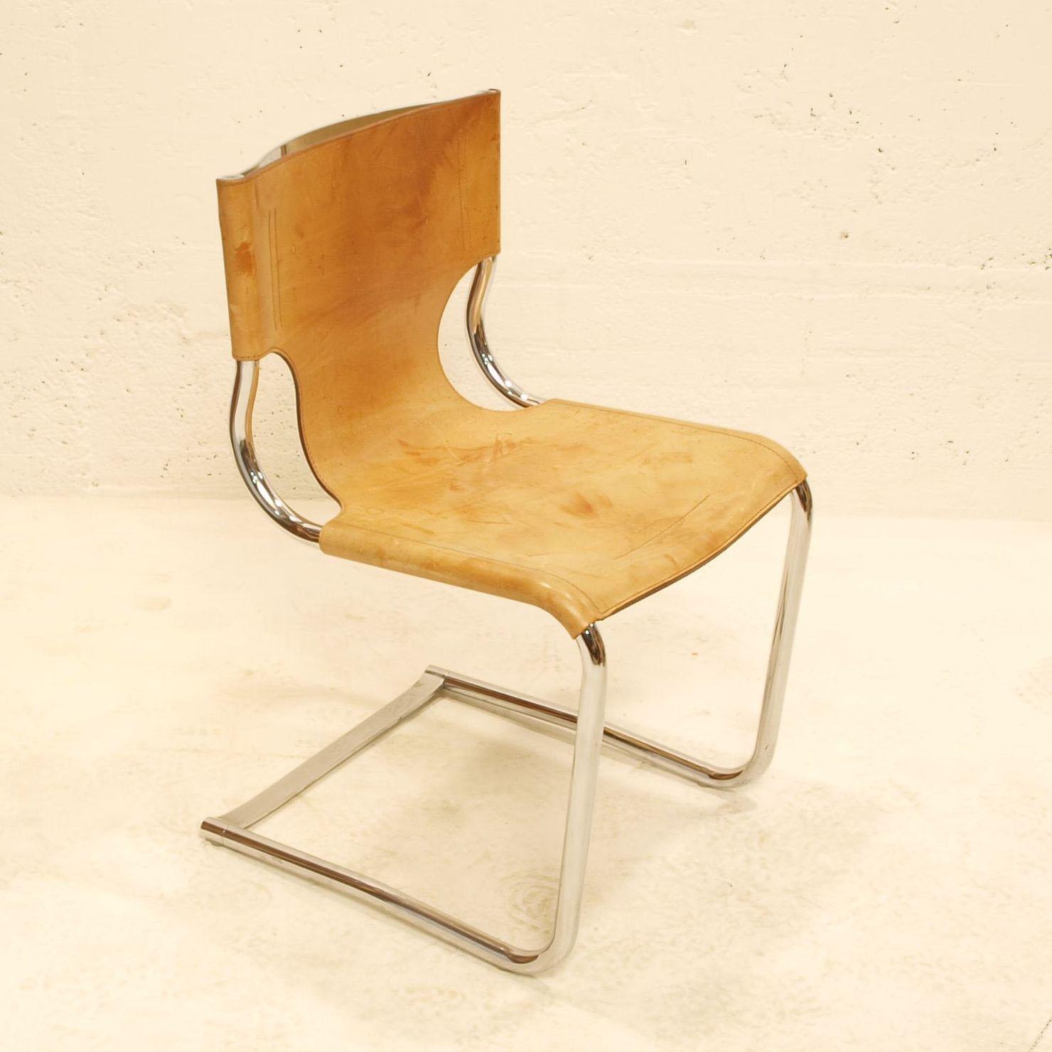 lederstuhl freischwinger m bel z rich vintagem bel. Black Bedroom Furniture Sets. Home Design Ideas