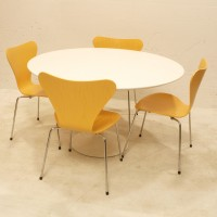 runder tisch mit kunstharzplatte zum ausziehen m bel z rich vintagem bel. Black Bedroom Furniture Sets. Home Design Ideas
