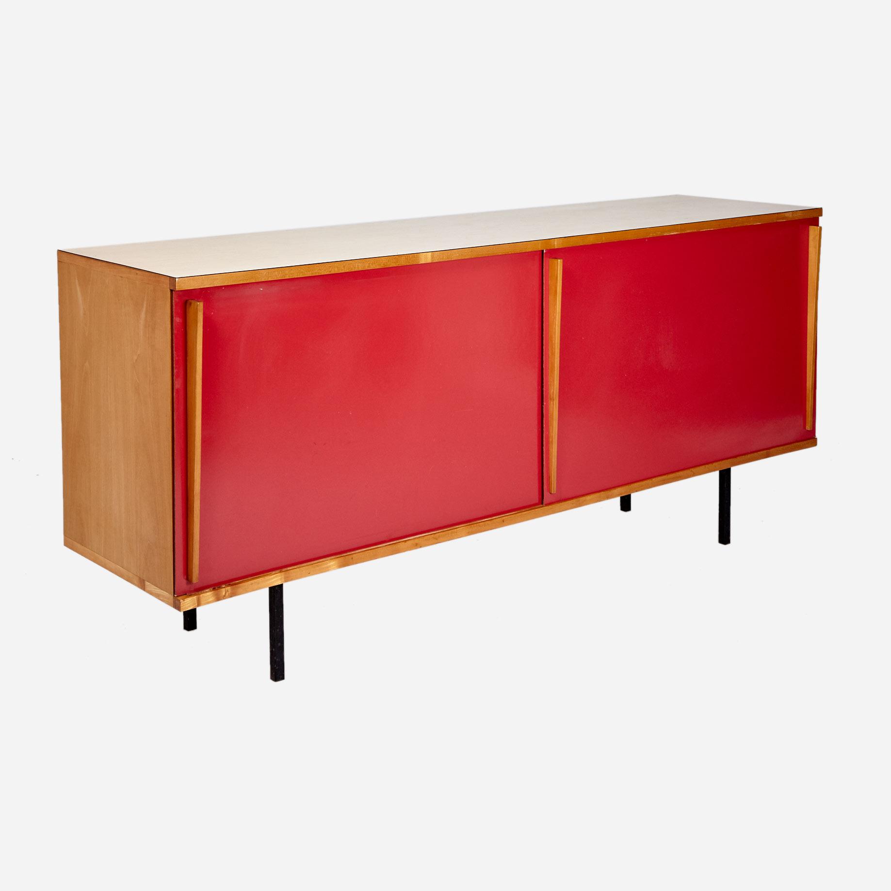 sideboard mit schiebet ren m bel z rich vintagem bel. Black Bedroom Furniture Sets. Home Design Ideas