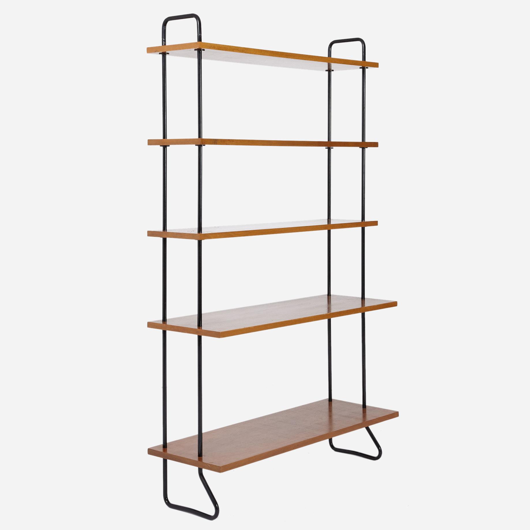 teak b cherregal freistehend m bel z rich vintagem bel. Black Bedroom Furniture Sets. Home Design Ideas