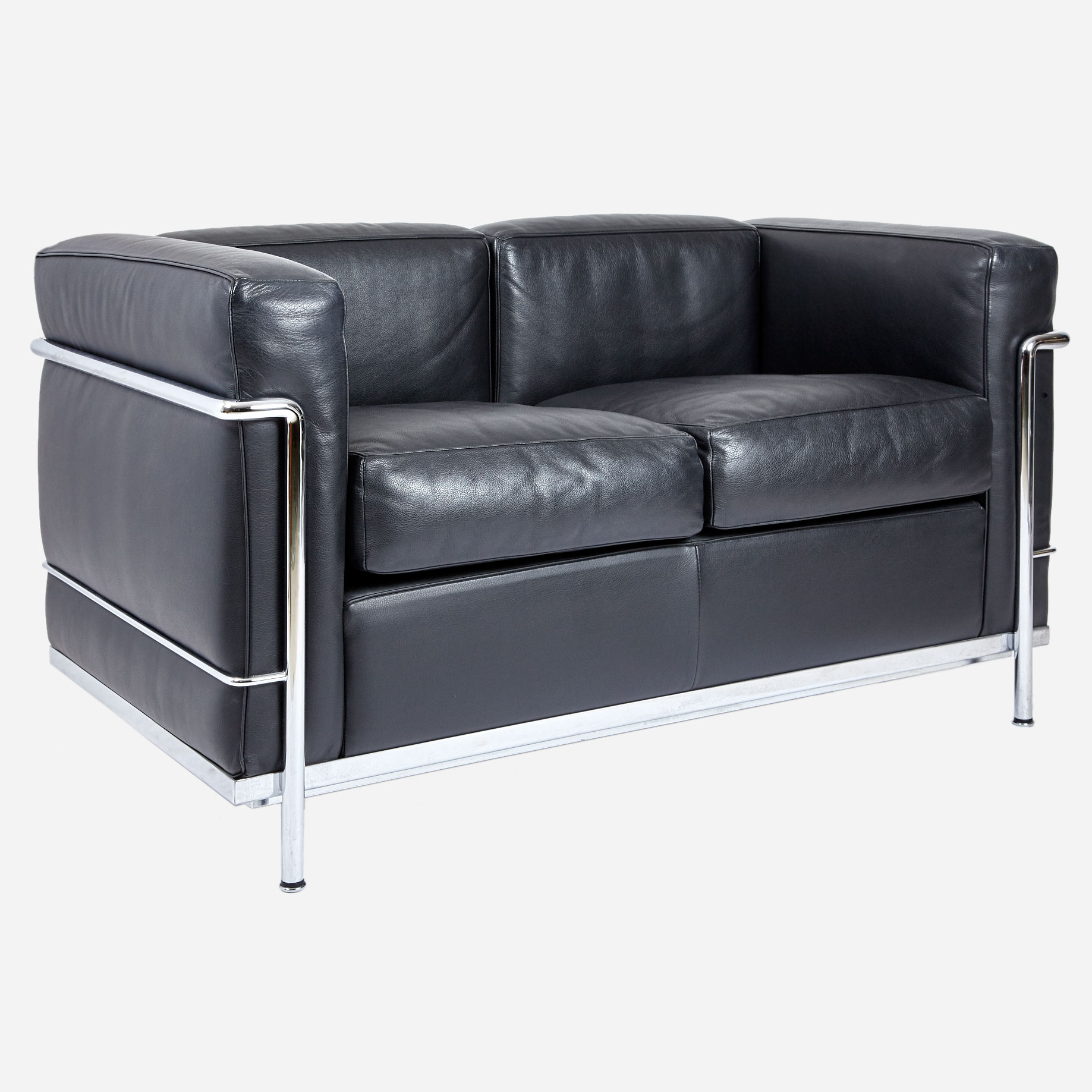 le corbusier 2er lc2 ledersofa neuwertig m bel z rich vintagem bel. Black Bedroom Furniture Sets. Home Design Ideas