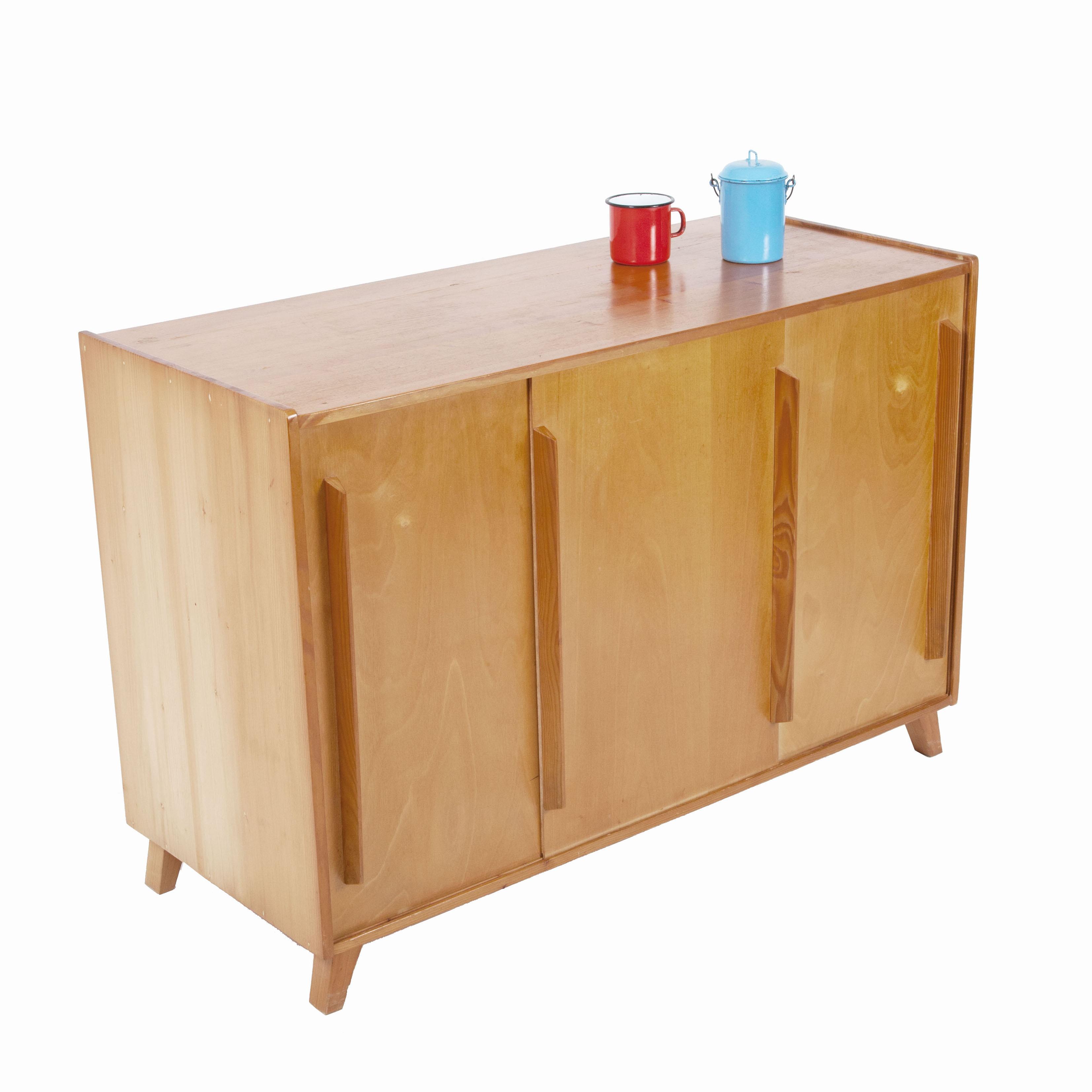 sideboard mit 3 schiebet ren m bel z rich vintagem bel. Black Bedroom Furniture Sets. Home Design Ideas