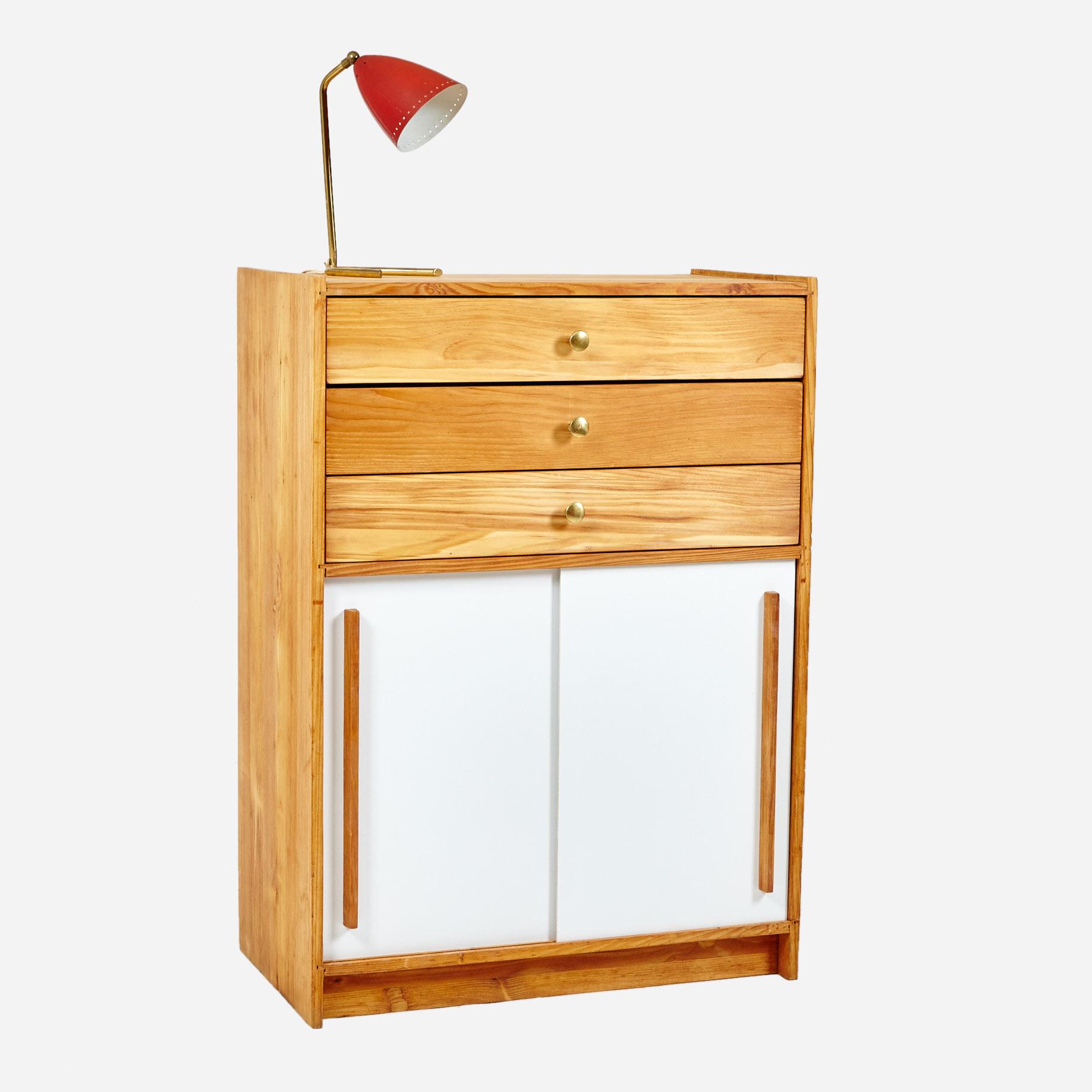 schiebeschrank mit schubladen komplett restauriert m bel z rich vintagem bel. Black Bedroom Furniture Sets. Home Design Ideas