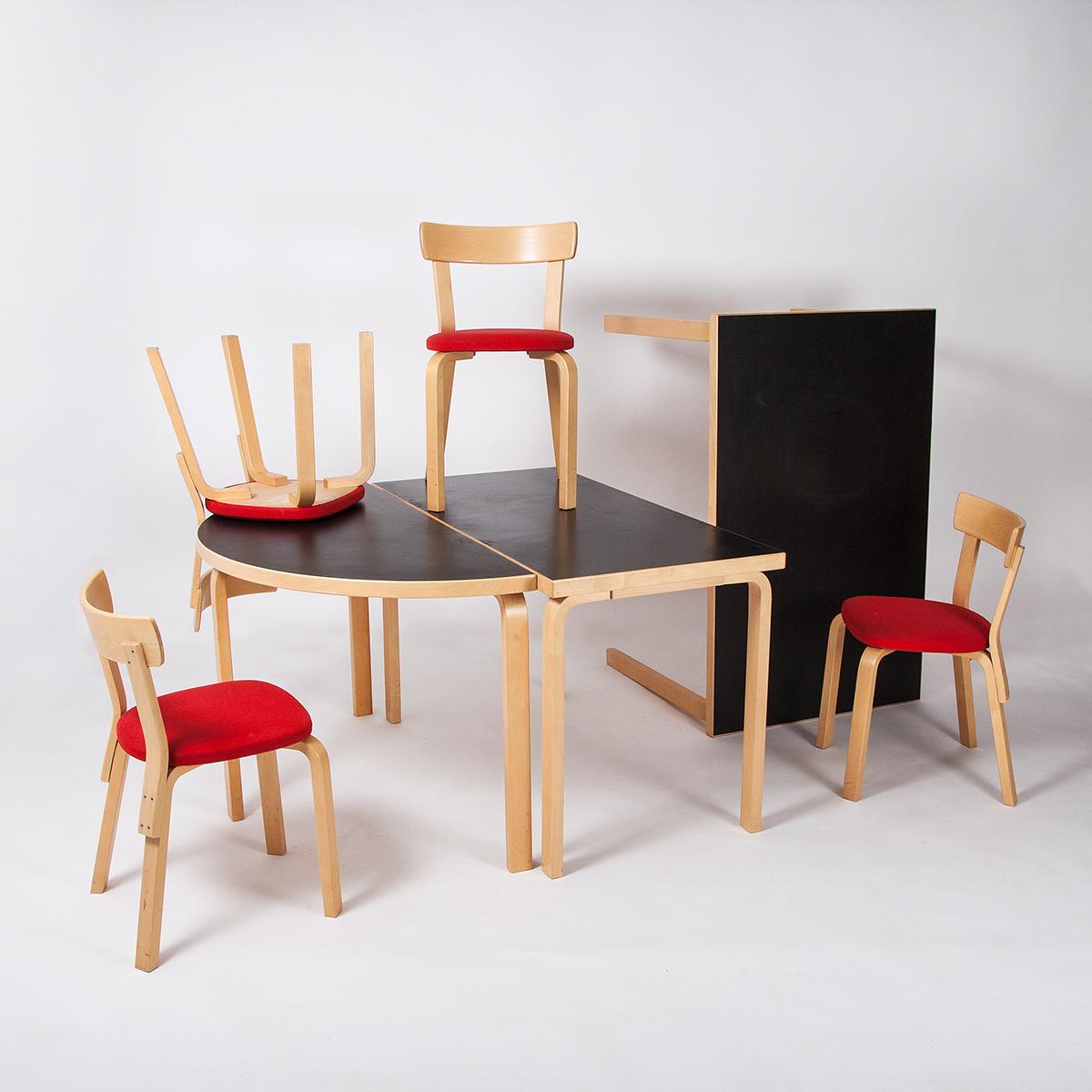 alvar aalto stuhl gepolstert 8 stk m bel z rich vintagem bel. Black Bedroom Furniture Sets. Home Design Ideas