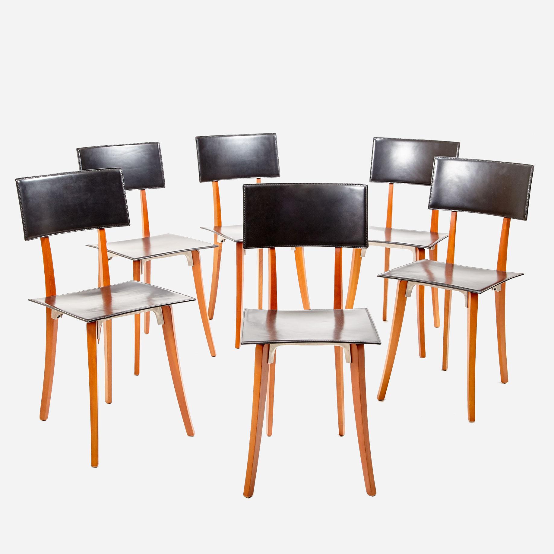 6er set stuhl marina von enzo mari f r zanotta m bel z rich vintagem bel. Black Bedroom Furniture Sets. Home Design Ideas
