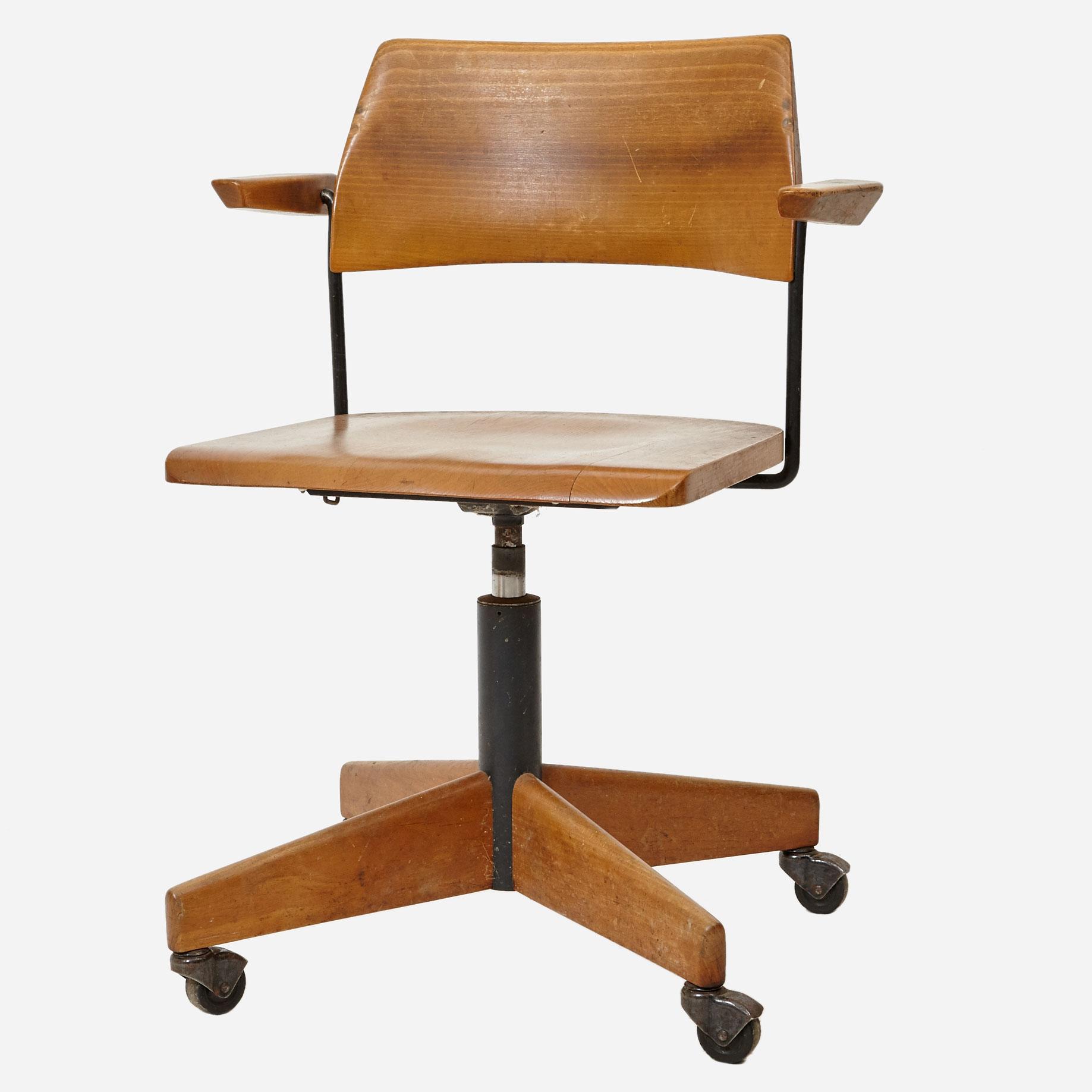 Bürostuhl Aus Buchenholz 1960er Jahre Möbel Zürich Vintagemöbel