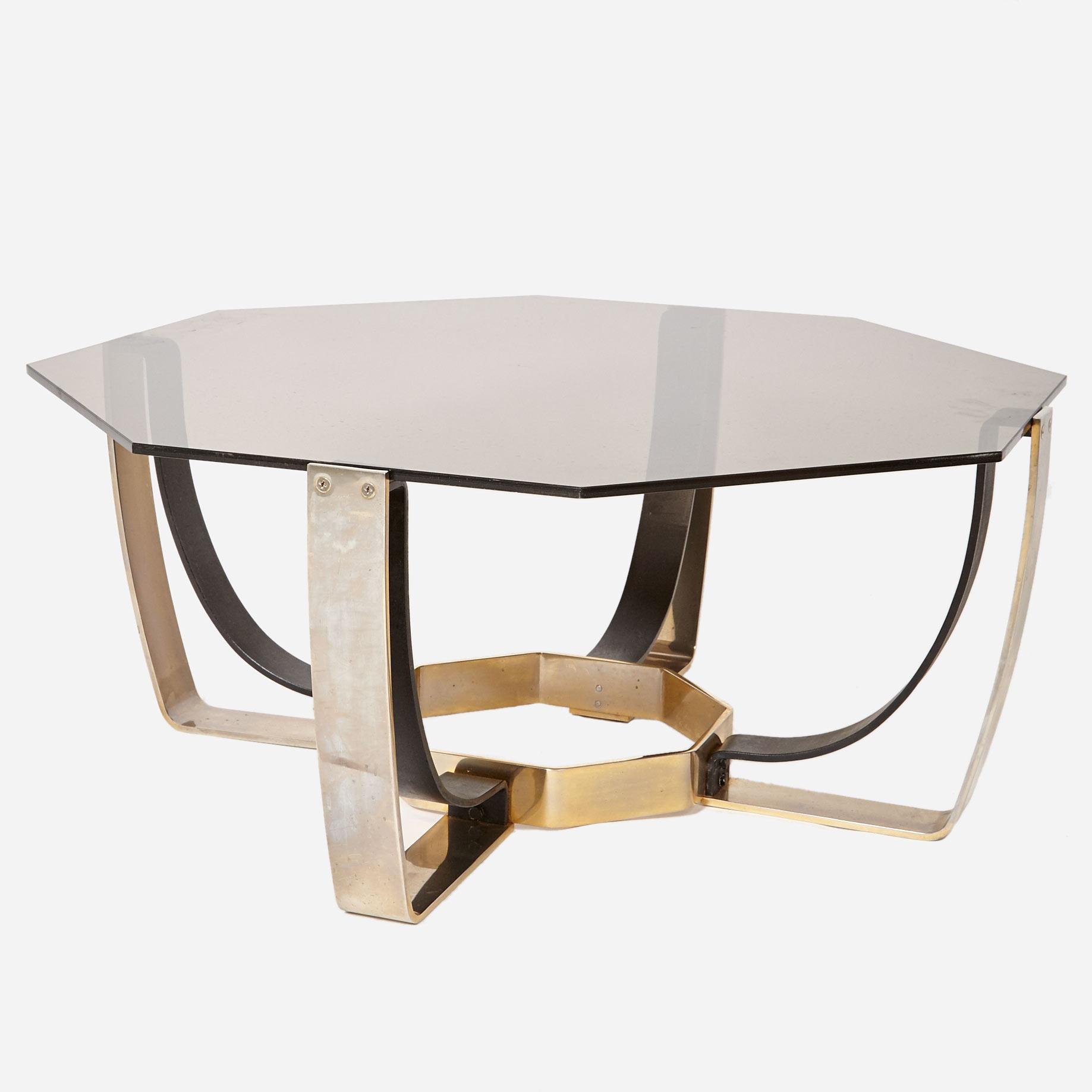 8 eckiger couchtisch mit glasplatte m bel z rich vintagem bel. Black Bedroom Furniture Sets. Home Design Ideas
