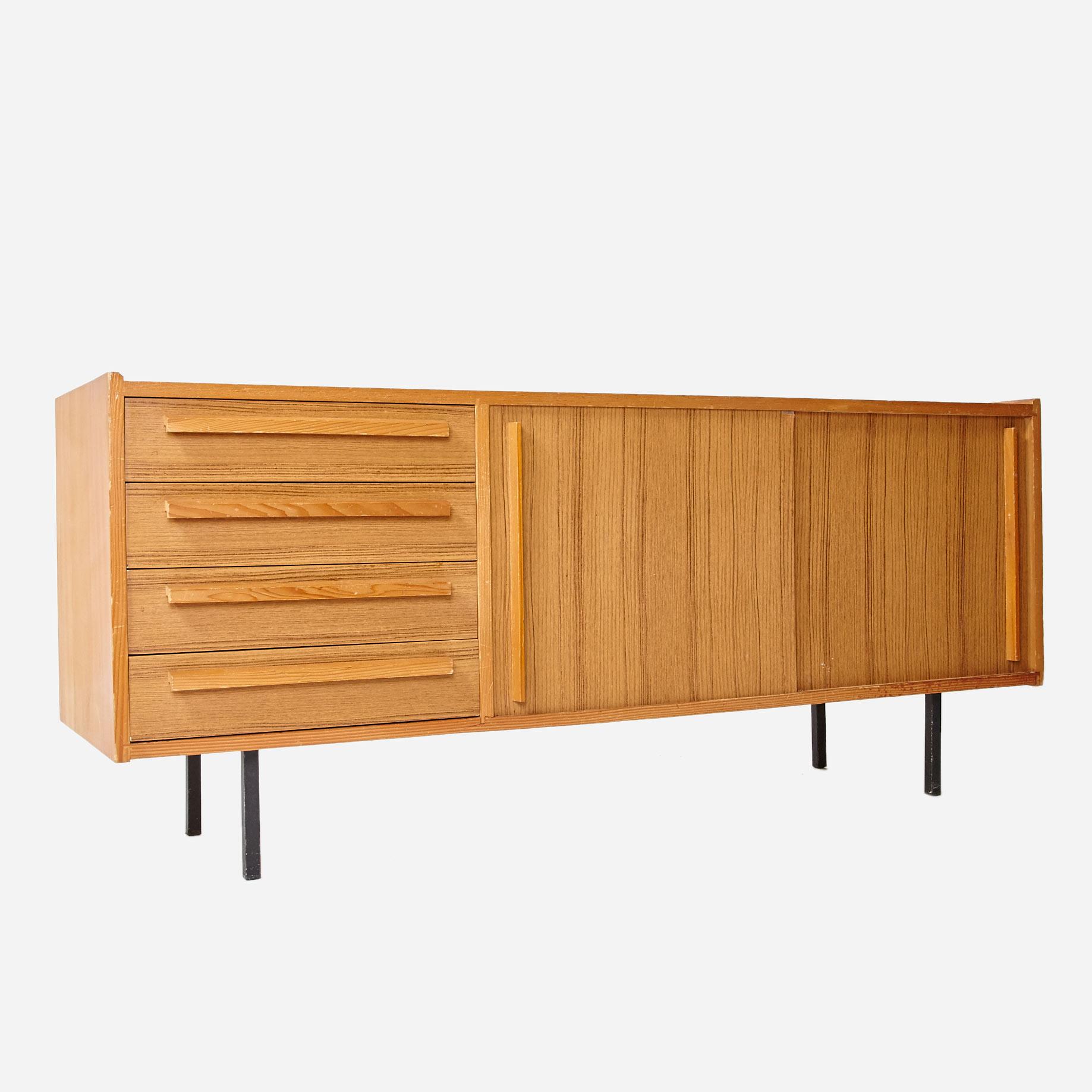 sideboard mit 4 schubladen und schiebet ren m bel z rich. Black Bedroom Furniture Sets. Home Design Ideas