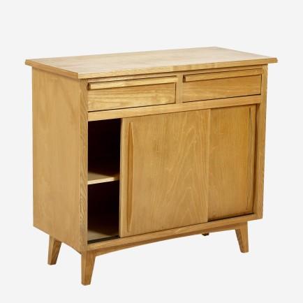 kommode mit schiebet ren und schubladen m bel z rich vintagem bel. Black Bedroom Furniture Sets. Home Design Ideas