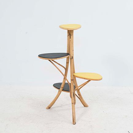 blumenetagere aus bambus m bel z rich vintagem bel. Black Bedroom Furniture Sets. Home Design Ideas