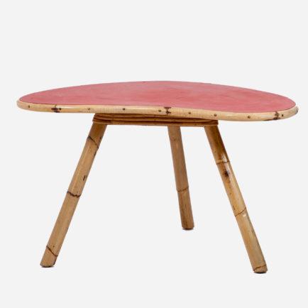 nierentisch aus bambus 1950er jahre m bel z rich vintagem bel. Black Bedroom Furniture Sets. Home Design Ideas