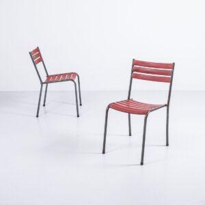 Bättig Gartenstühle rot, stapelbar Gartenmöbel