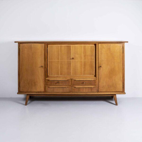 50er Jahre Nussbaum Sideboard Möbel