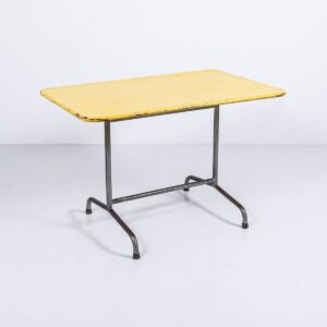 Bigla Gartenstisch gelb, nicht klappbar, Gestell klarlackiert Gartenmöbel