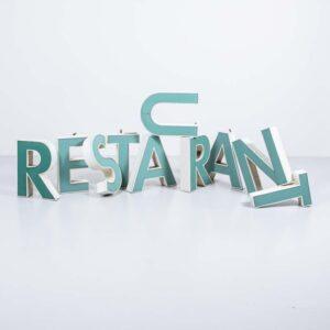 Leuchtbuchstaben Restaurant Gastronomie Möbel