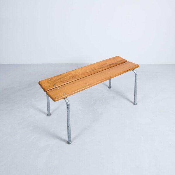 Holzbank aus Buche, 100cm, stapelbar Bank