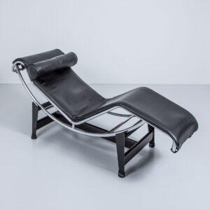 Corbusier Liege LC4 für Cassina, grau Liege