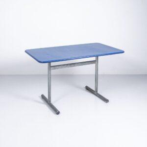 Bigla Gartentisch blau unrestauriert, klappbar Gartenmöbel
