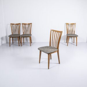 60er Jahre Klingnau Stäblistuhl, gepolstert Möbel